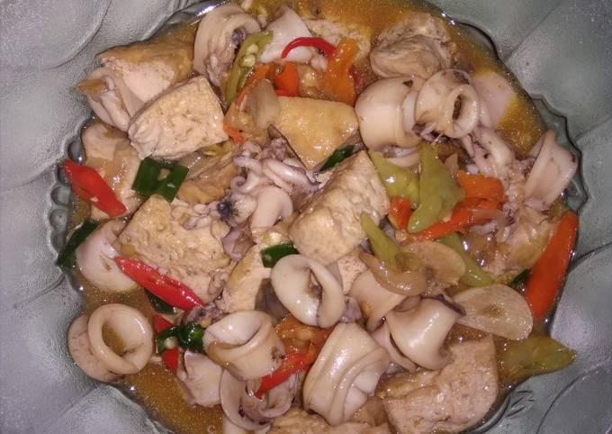 Resep Oseng Cumi Tahu Pedas Oleh Nanhie Ahmad Cookpad