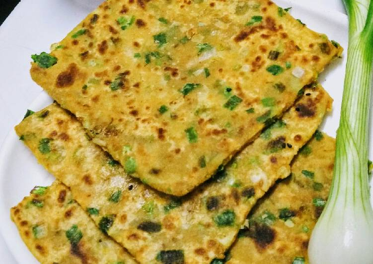 Recipe of Any-night-of-the-week Spring onion paranthe