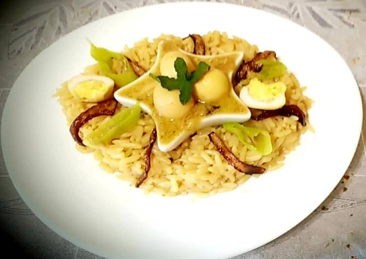 Easiest Way to Prepare Super Quick Homemade Eggs korma and rice pilau