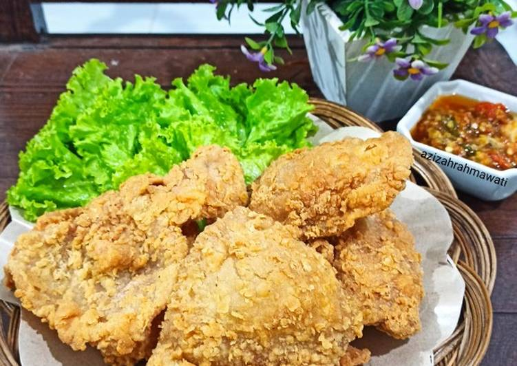 Crispy chicken skin (kulit ayam krispy)