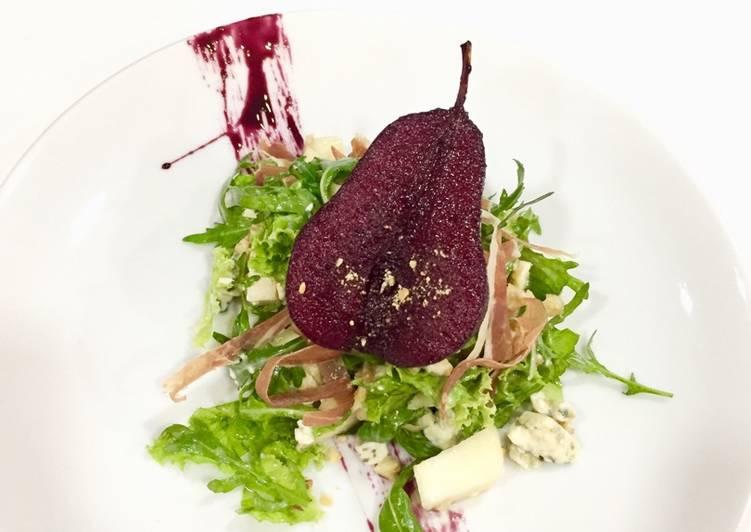 Rukola blue cheese salad
