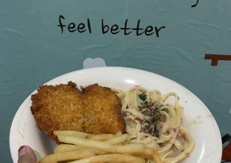 Ikan dory tepung ala fish n' chips
