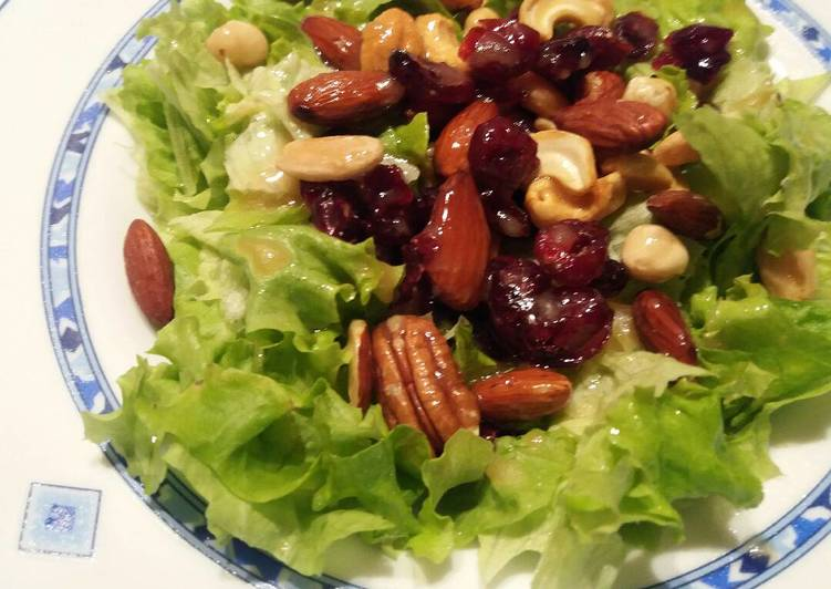 Ensaladas con frutos secos recetas