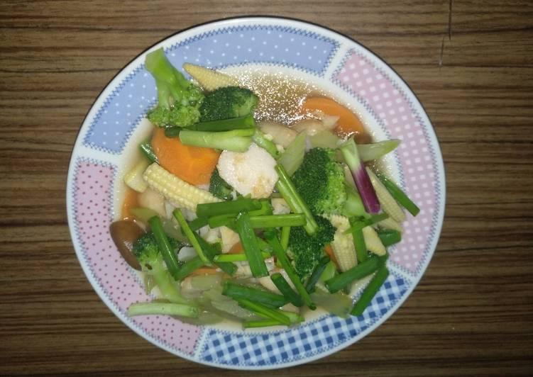 Tumis cap chay (sayur campur) sehat