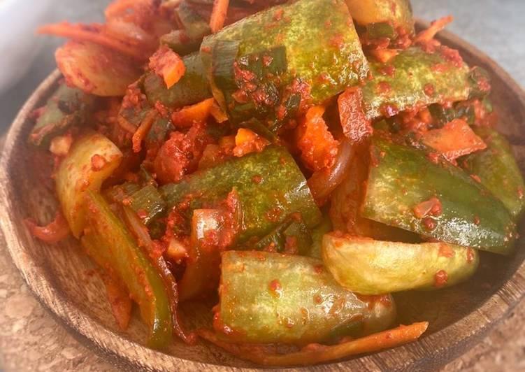 Cucumber Kimchi versi kecil -Oisobagi kimchi 오이소박이 김치