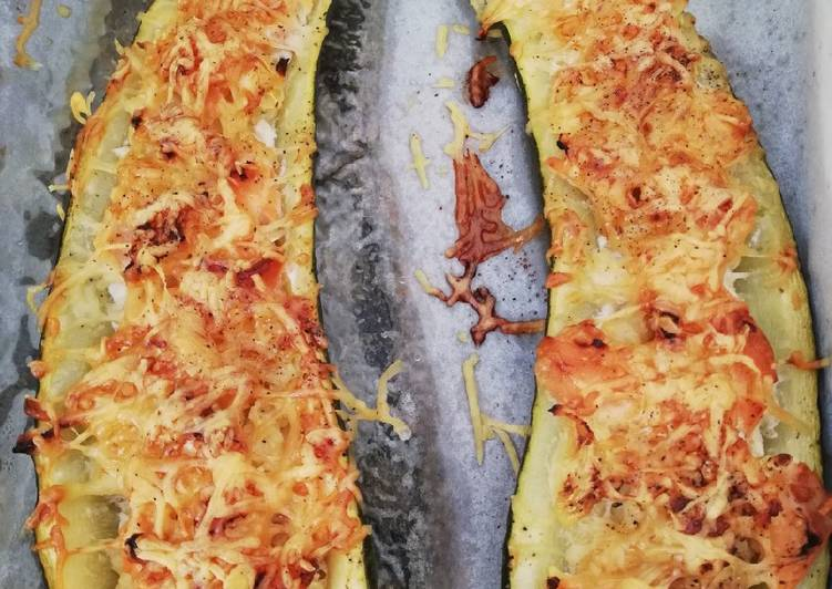 Courgette farcie au saumon