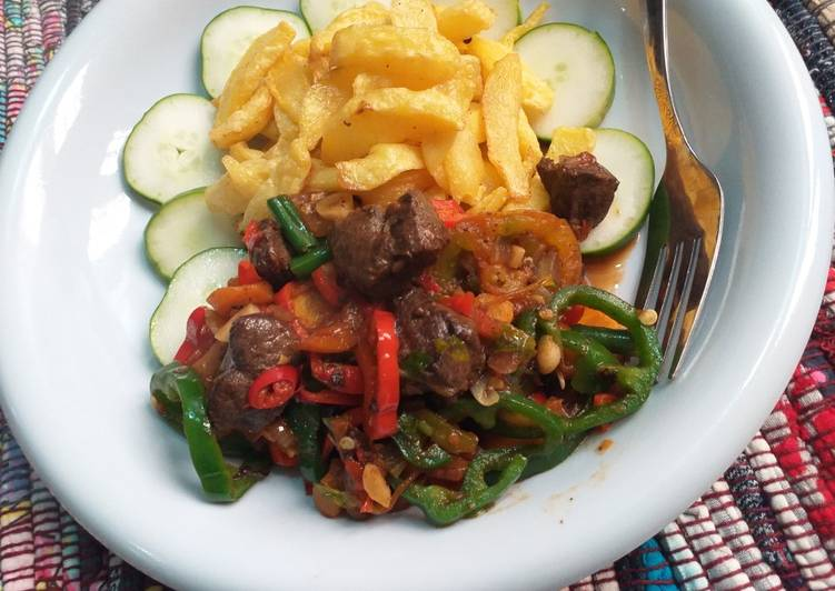 10 Minute How to Prepare Blends Fried chips with liver sauce