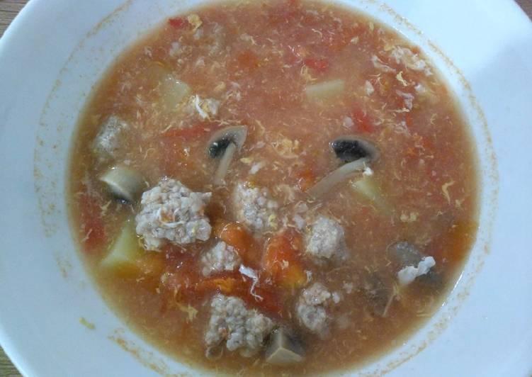 Recipe: Delicious 番茄汤 Tomato Soup