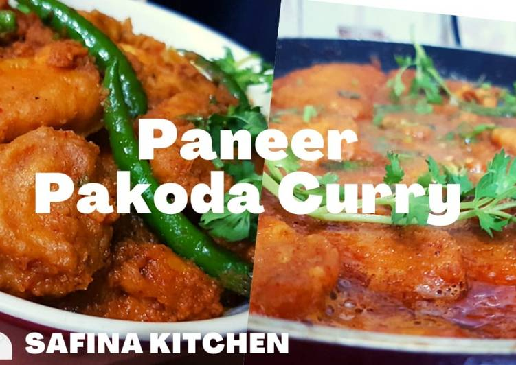 Recipe of Quick Paneer Pakoda Curry Recipe I Paneer Pakora Gravy Recipe I Paneer Pakora Masala Curry I
