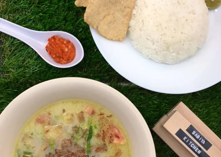 Soto Betawi Daging (Santan & Susu) Bonus: Resep Acar