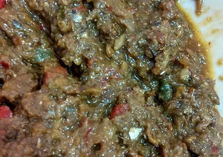 sambal ikan asin aka sambal roa kw