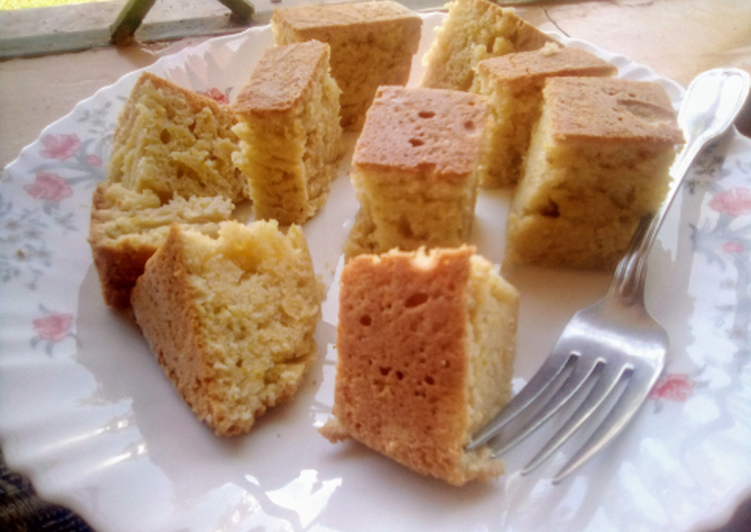 Eggless orange cake(without an oven)