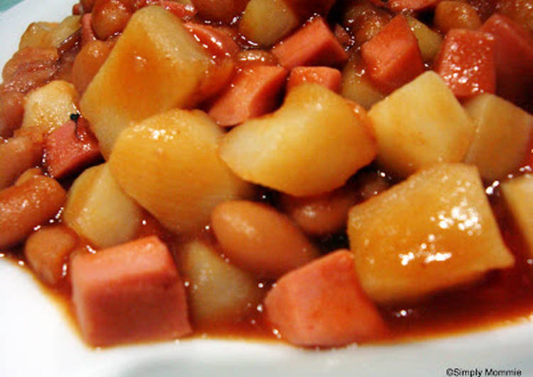 Steps To Prepare Favorite Potato With Baked Beans Cookandrecipe Com