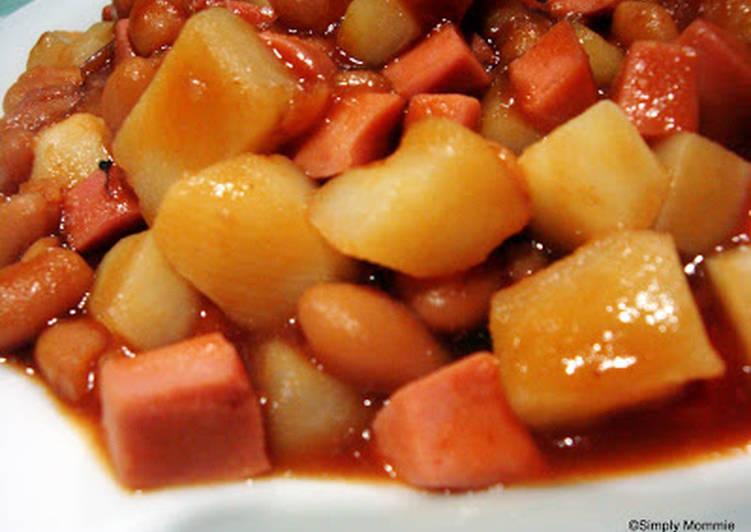 Steps To Prepare Favorite Potato With Baked Beans Cookandrecipe Com