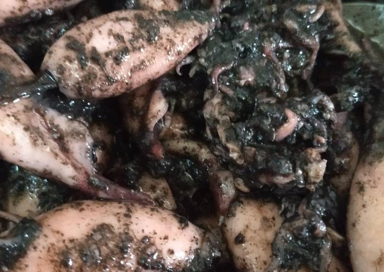 Cumi masak hitam resep mama
