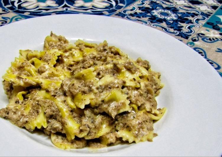 salsa de setas para pasta sin nata