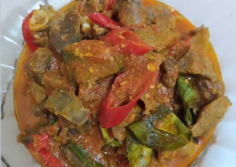 Sambal goreng daging kambing + paru