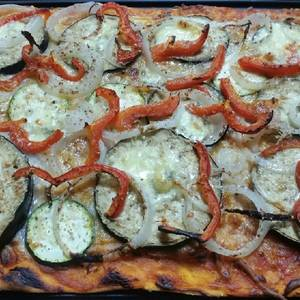 Pizza de verduras (picantona o no, tu decides)