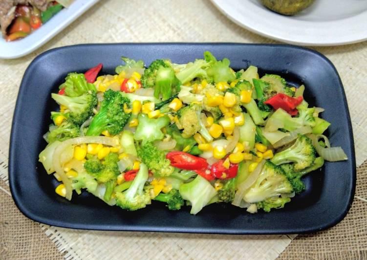Cah Brokoli dan Jagung Manis