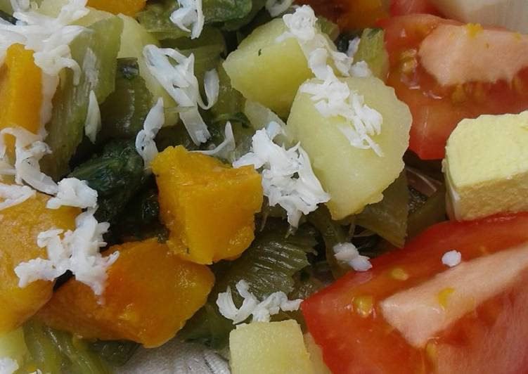 Ensalada De Verduras Cocidas Receta De Graciela Martinez