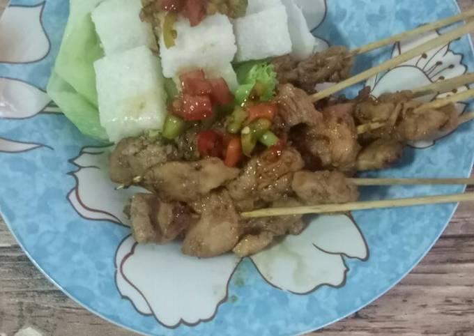 Lontong Shirataki + Sate Ayam - menu diet