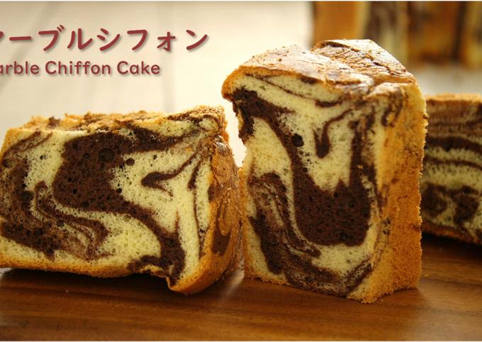 Recipe of Perfect Cocoa Marble Chiffon Cake