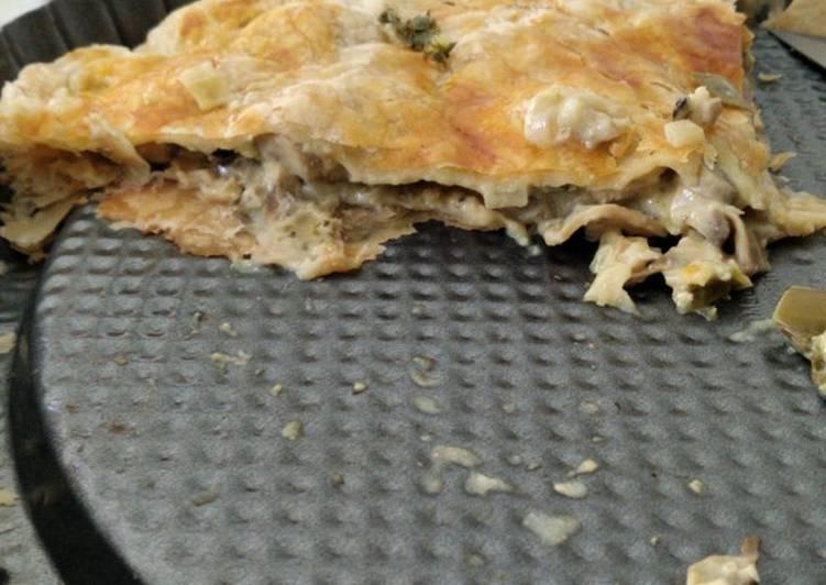 Simple chicken meat pie resep Jamie Oliver