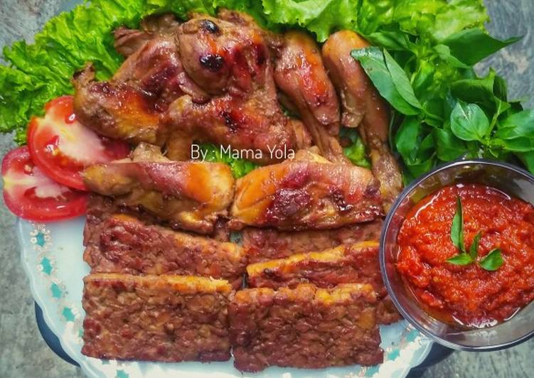 Resep Ayam & Tempe Bacem (Panggang) yang Lezat
