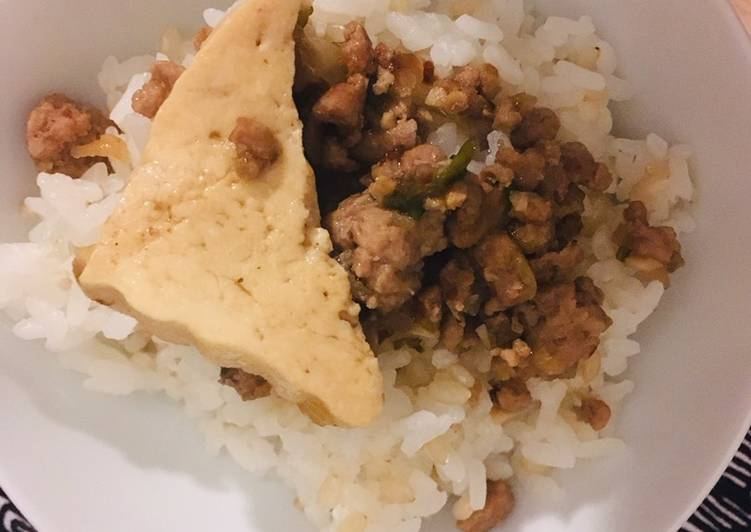 Taiwanese minced pork rice (魯肉飯) 🇹🇼