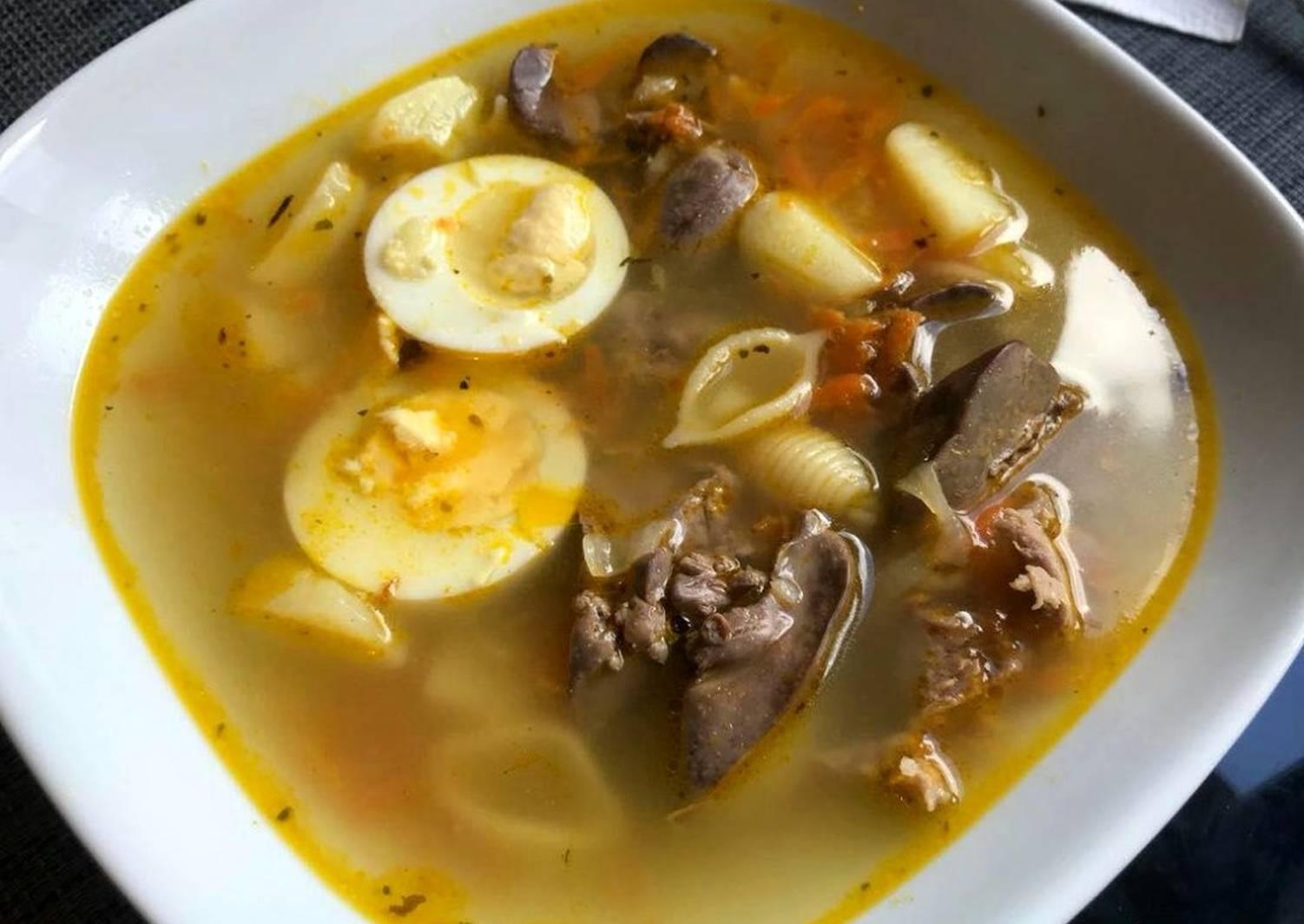водоем суп из куриных потрохов рецепт с фото кнопку пожаловаться