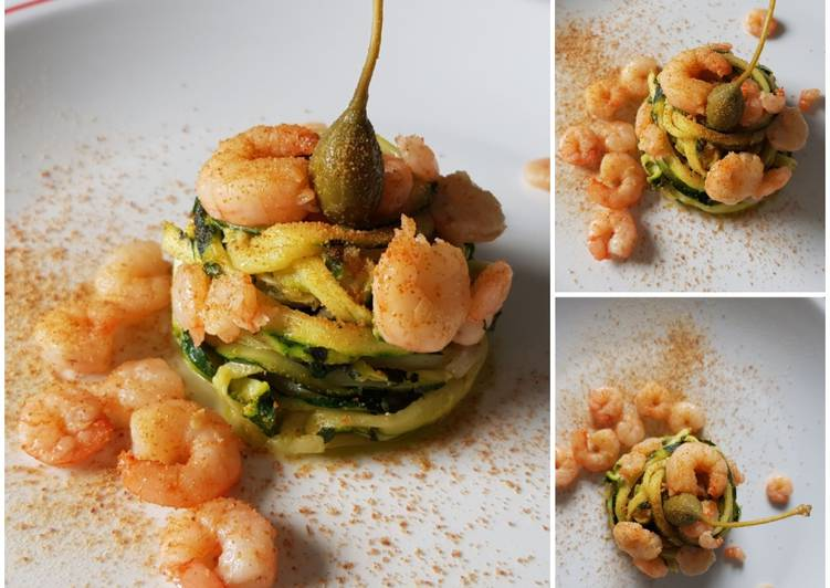Easiest Way to Prepare Delicious Spaghetti with zucchini, shrimps and bottarga #dispensadiluglio