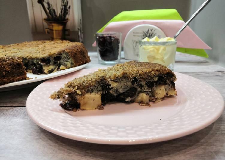 Glutén és tejmentes mákos, almás, áfonyás villámgyors süti recept foto