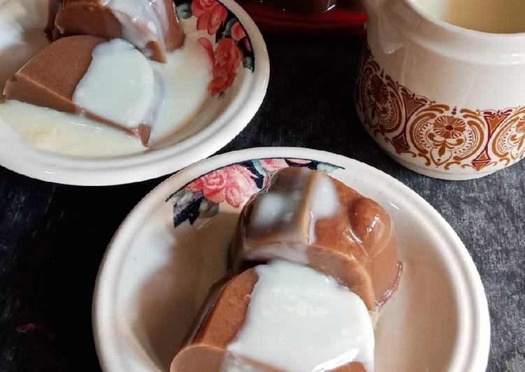 Resep Puding Kurma Coklat Vla Vanilla Oleh Dessy Nirwana