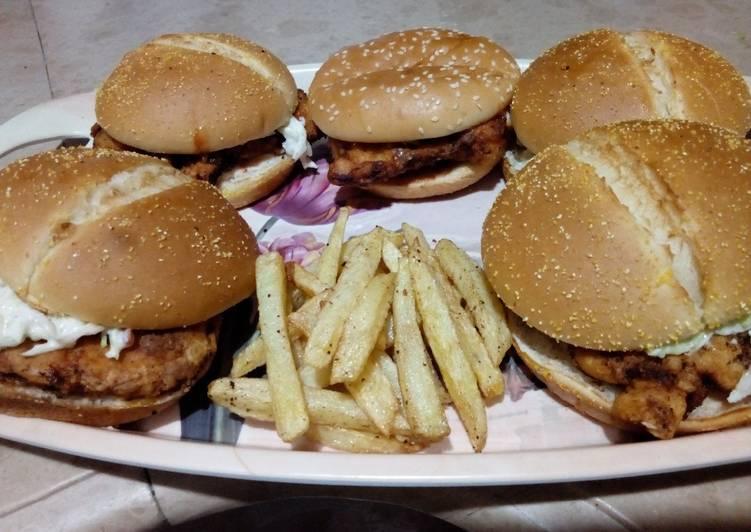 Recipe of Homemade Zinger burger