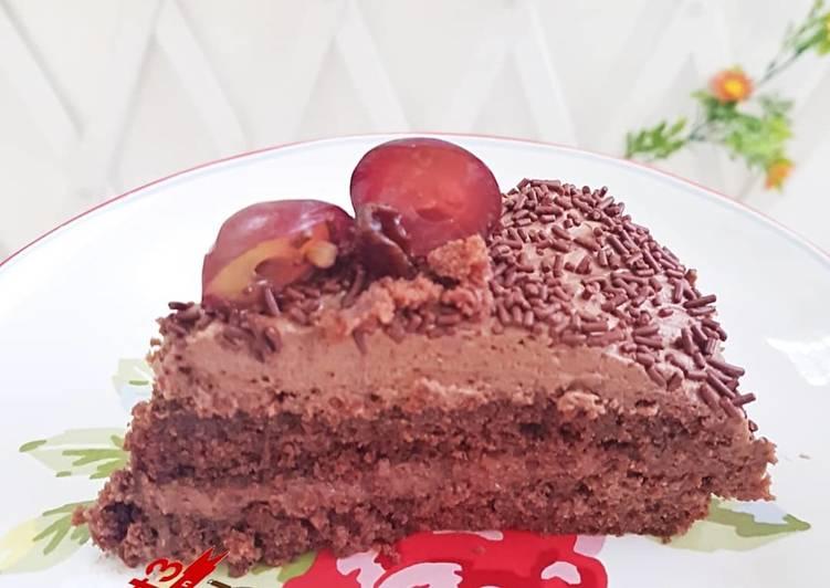 Cake coklat moist no oven