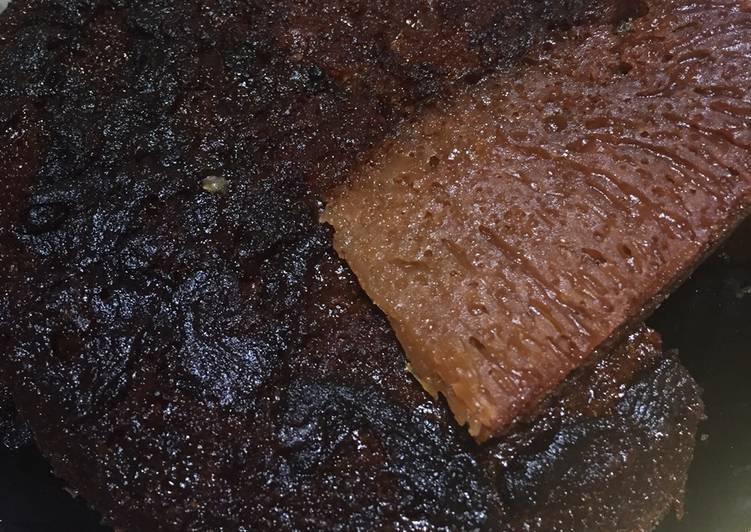 cara masak Cake Sarang semut aka karamel - Sajian Dapur Bunda
