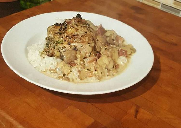 How to Prepare Perfect Roast Chicken Thighs in a Sautéed Mushroom Parmasan Garlic Cream
