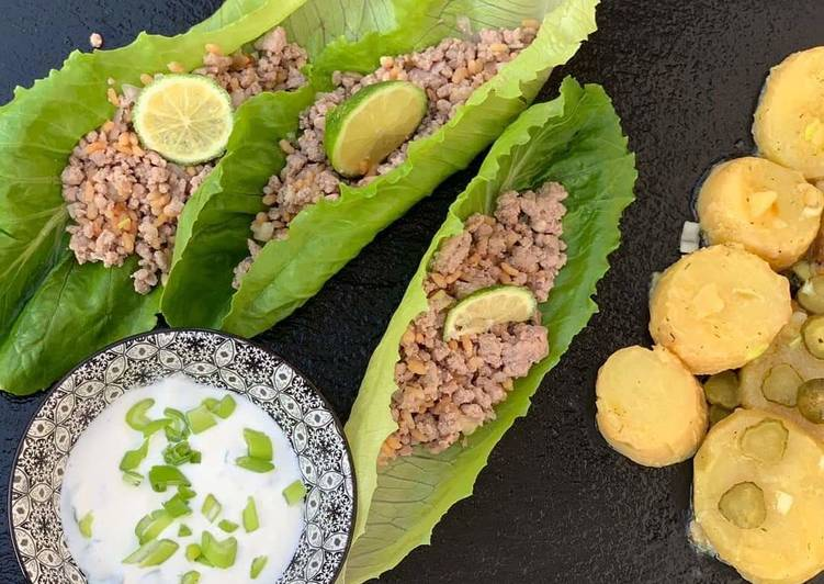 Ricetta dal mondo : laab moo patate e salsa indiana allo yogurt