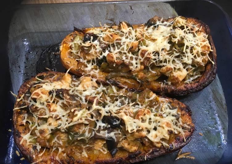 Butternut Surprise (poireau-poulet-champignons) - LRQDO