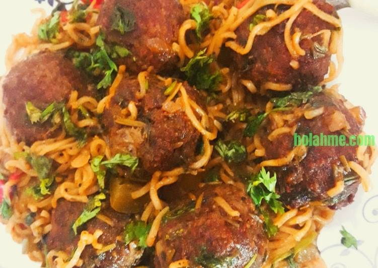 IndoBalls - Indomie Stir Fry and Meatballs #pacemakers