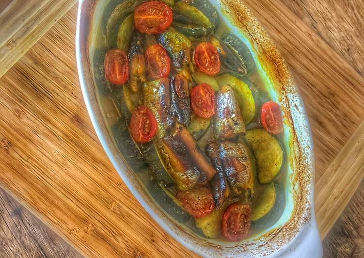 Bouillon courgette et Sardines