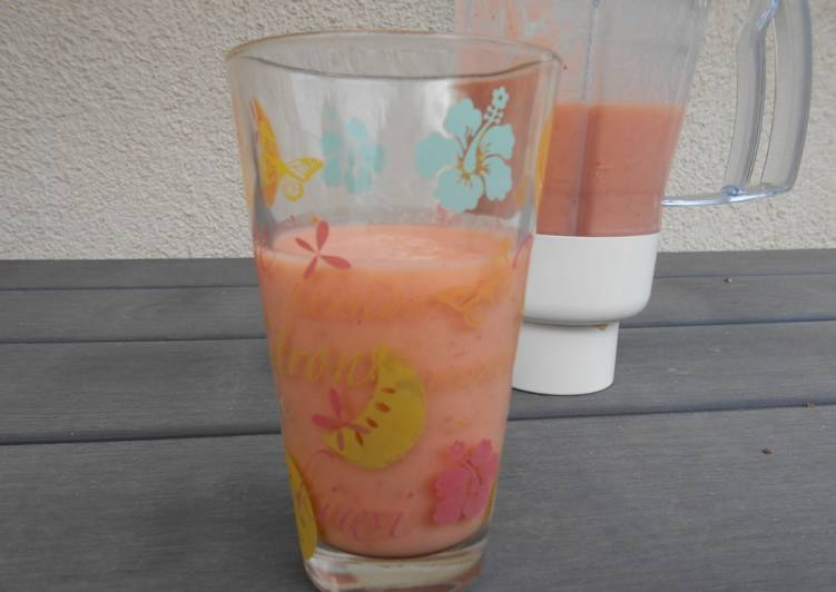 Easiest Way to Prepare Perfect Smoothie melon fraises