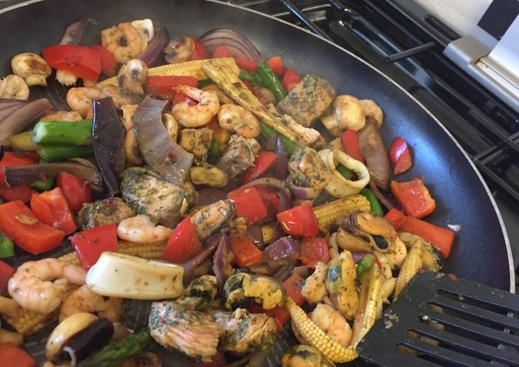 Sea food Stir Fry