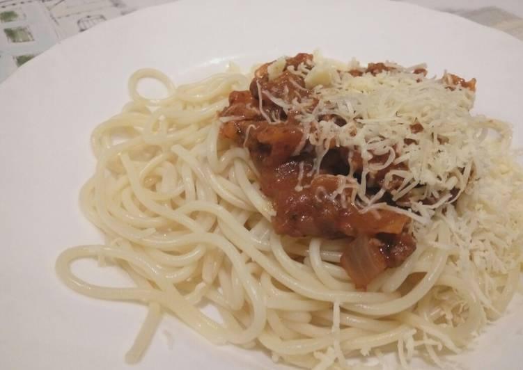 Recipe: Perfect Spaghetti Beef Bolognese