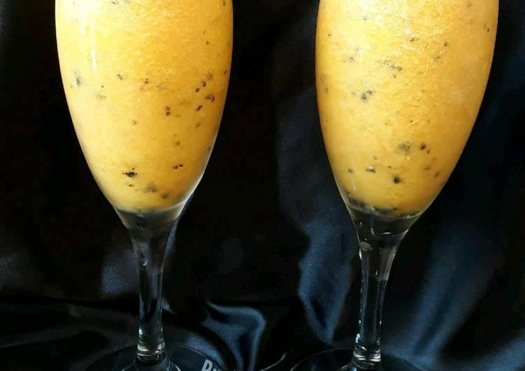 Easiest Way to Make Speedy Pineapple & passion fruit slushy