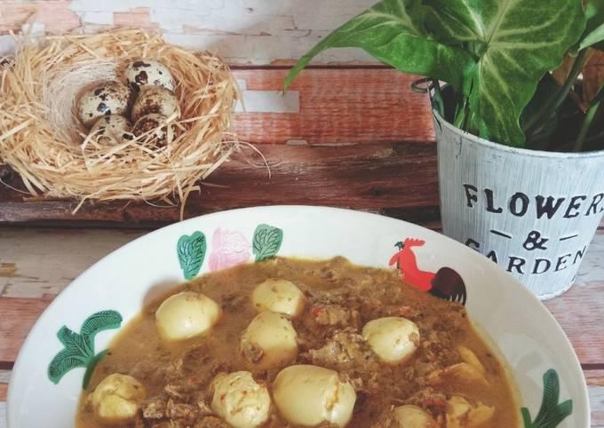 Masak lemak telur puyuh bersama cendawan kukur