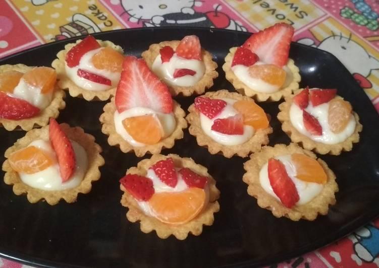 Pie buah tanpa siraman agar2