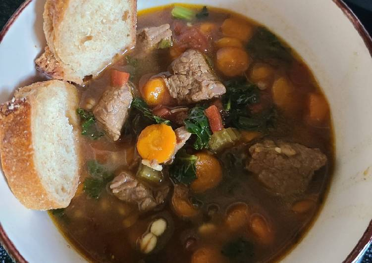 Recipe: Appetizing Instant pot beef barley soup