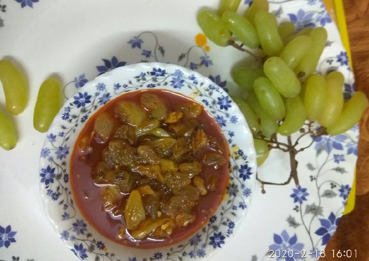 Simple Way to Make Speedy Grapes spicy chutney
