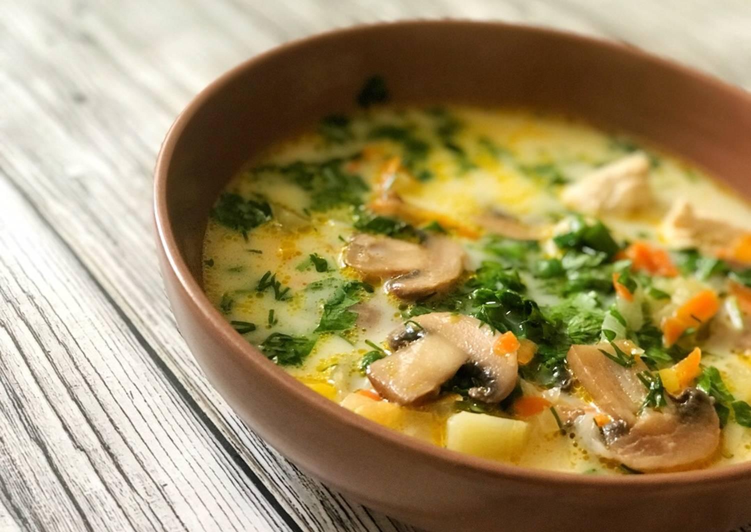 грибной суп простой рецепт с фото основном